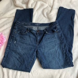 Loft Modern Straight Distressed Jeans Size 8